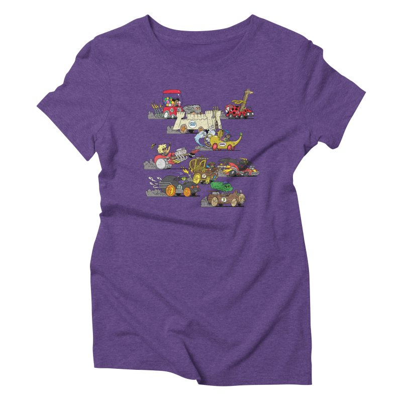 Wild Racers Women's Triblend T-Shirt by brianmcl's Artist Shop