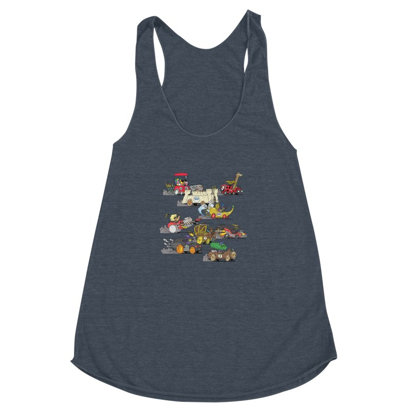 Wild Racers Women's Racerback Triblend Tank by brianmcl's Artist Shop