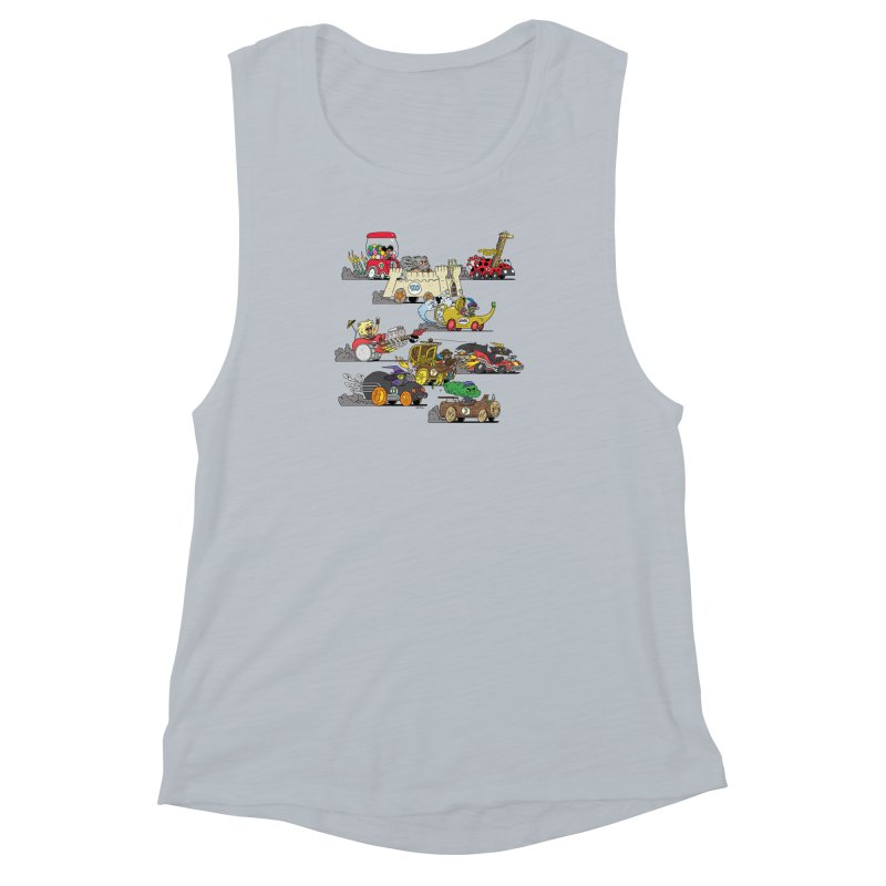 Wild Racers Women's Muscle Tank by brianmcl's Artist Shop