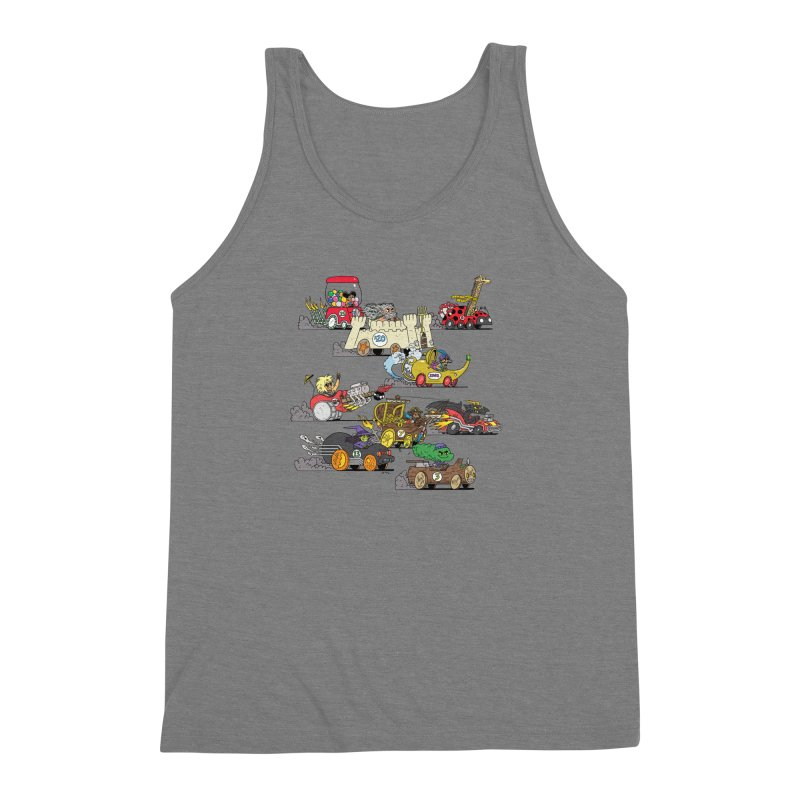 Wild Racers Men's Triblend Tank by brianmcl's Artist Shop