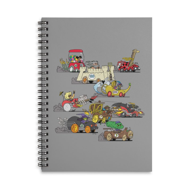 Wild Racers Accessories Lined Spiral Notebook by brianmcl's Artist Shop