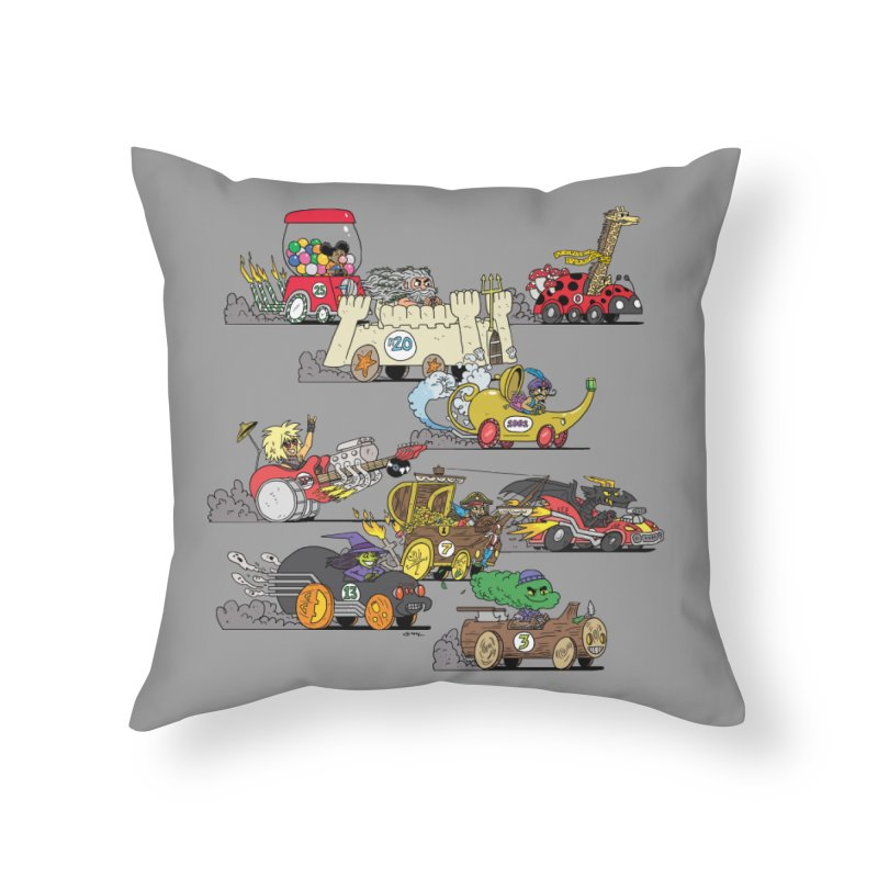 Wild Racers Home Throw Pillow by brianmcl's Artist Shop