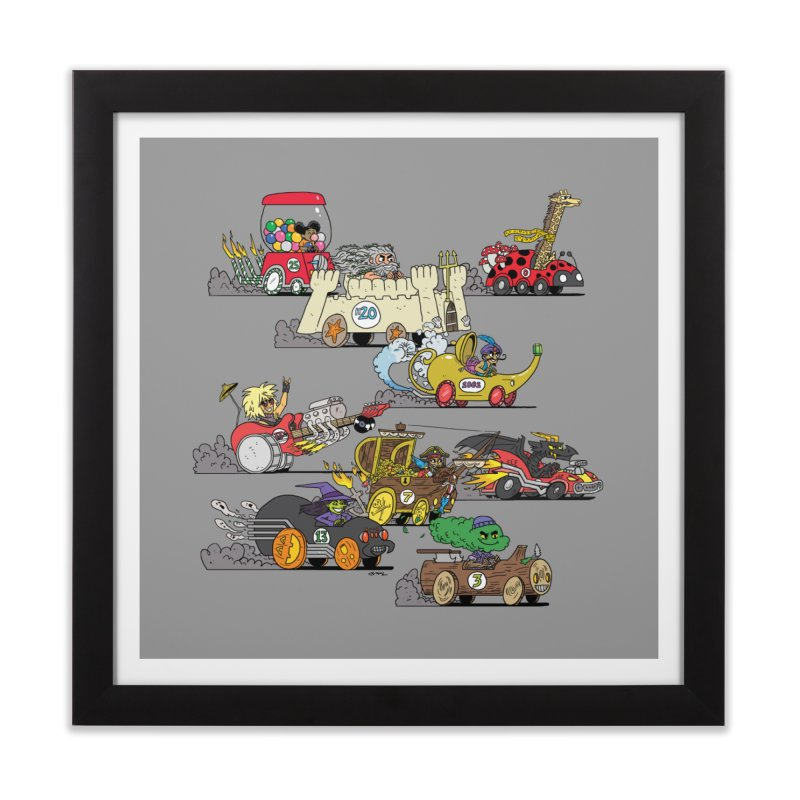 Wild Racers Home Framed Fine Art Print by brianmcl's Artist Shop