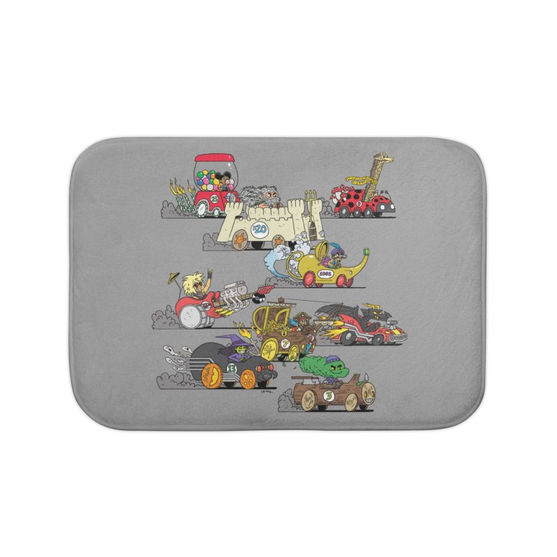 Wild Racers Home Bath Mat by brianmcl's Artist Shop
