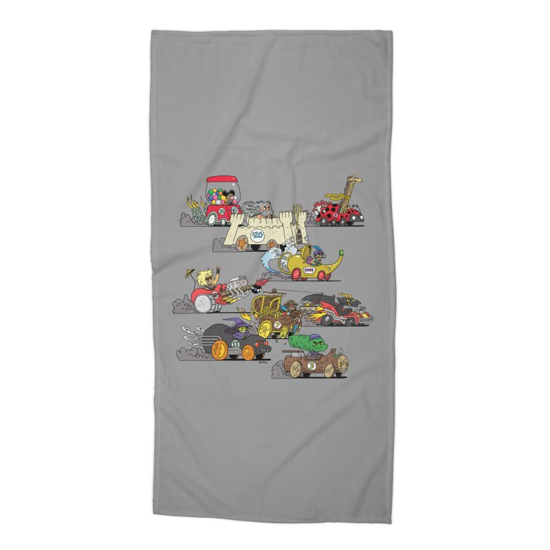 Wild Racers Accessories Beach Towel by brianmcl's Artist Shop
