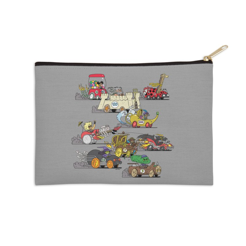 Wild Racers Accessories Zip Pouch by brianmcl's Artist Shop