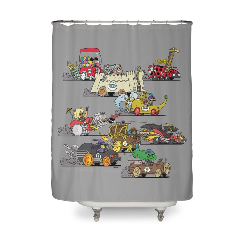 Wild Racers Home Shower Curtain by brianmcl's Artist Shop