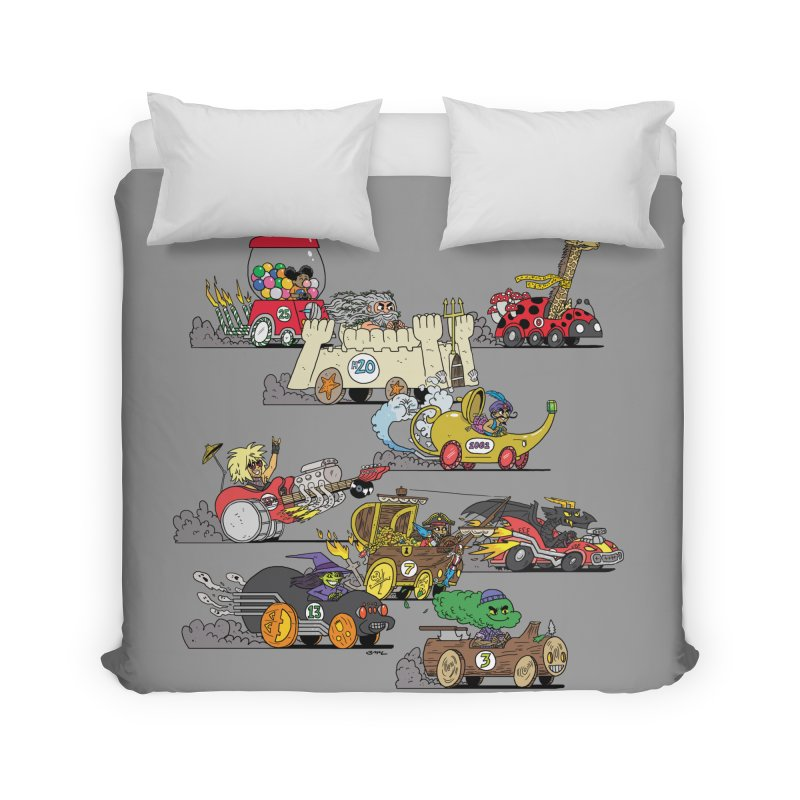 Wild Racers Home Duvet by brianmcl's Artist Shop