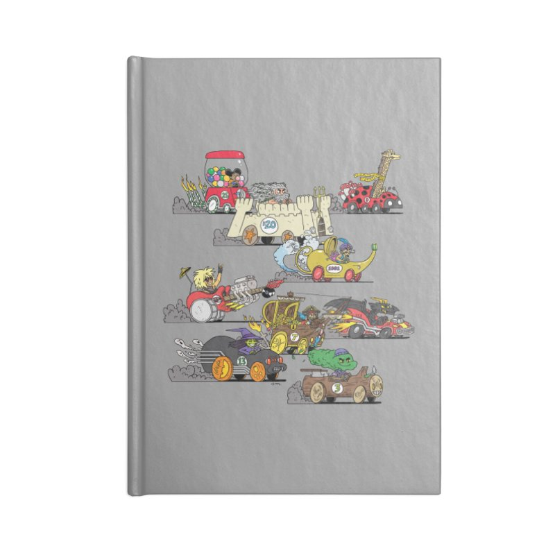 Wild Racers Accessories Lined Journal Notebook by brianmcl's Artist Shop