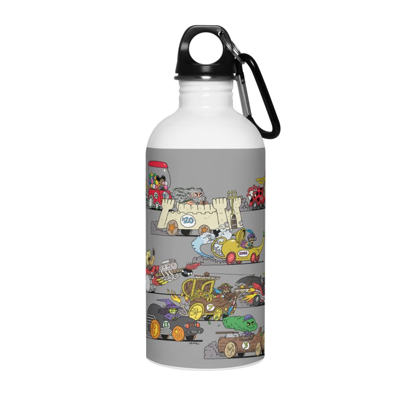 Wild Racers Accessories Water Bottle by brianmcl's Artist Shop