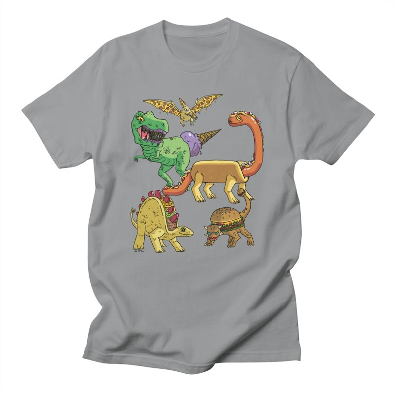 Jurassic Junk Food Men's Regular T-Shirt by brianmcl's Artist Shop