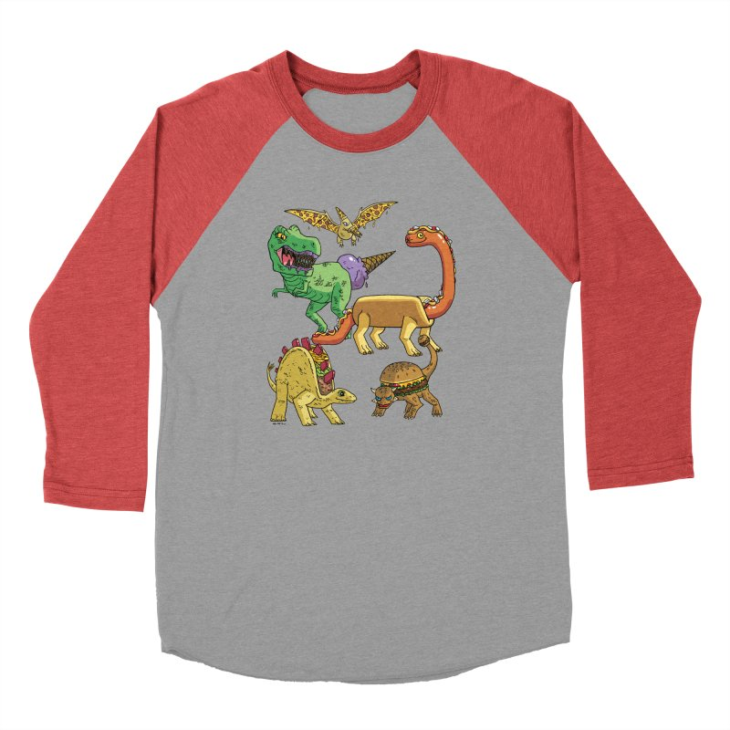 Jurassic Junk Food Men's Longsleeve T-Shirt by brianmcl's Artist Shop