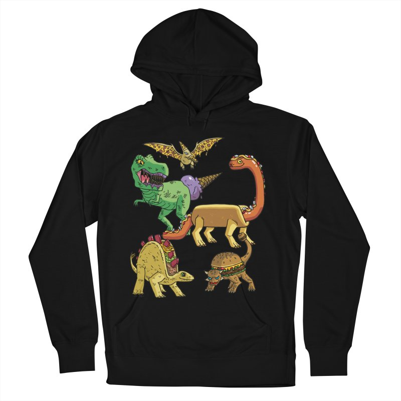 Jurassic Junk Food Women's French Terry Pullover Hoody by brianmcl's Artist Shop
