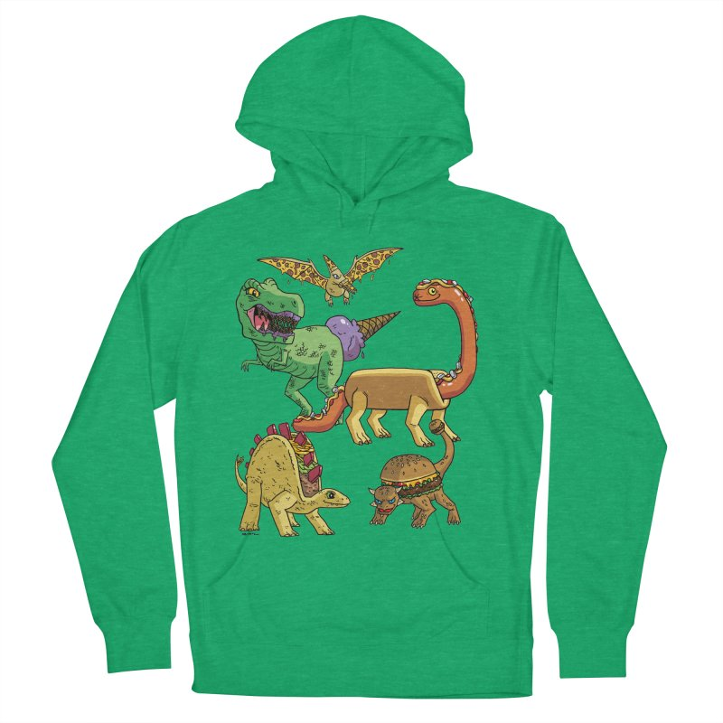 Jurassic Junk Food Men's French Terry Pullover Hoody by brianmcl's Artist Shop