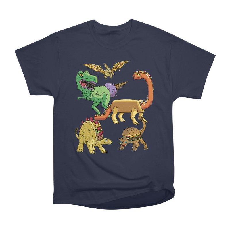 Jurassic Junk Food Women's Heavyweight Unisex T-Shirt by brianmcl's Artist Shop