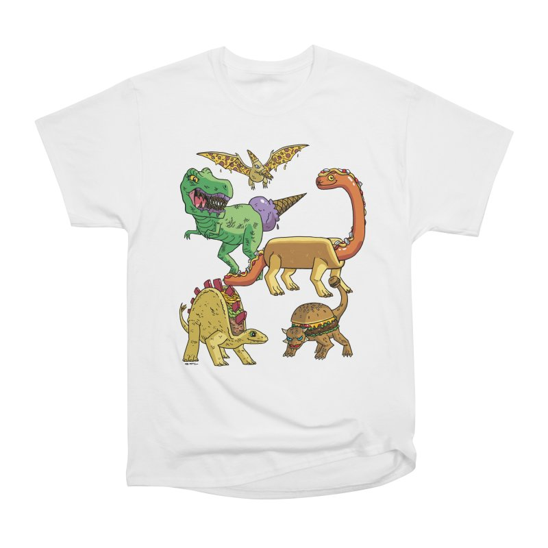 Jurassic Junk Food Women's Heavyweight Unisex T-Shirt by brianmcl's Artist Shop