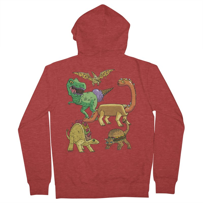 Jurassic Junk Food Women's French Terry Zip-Up Hoody by brianmcl's Artist Shop