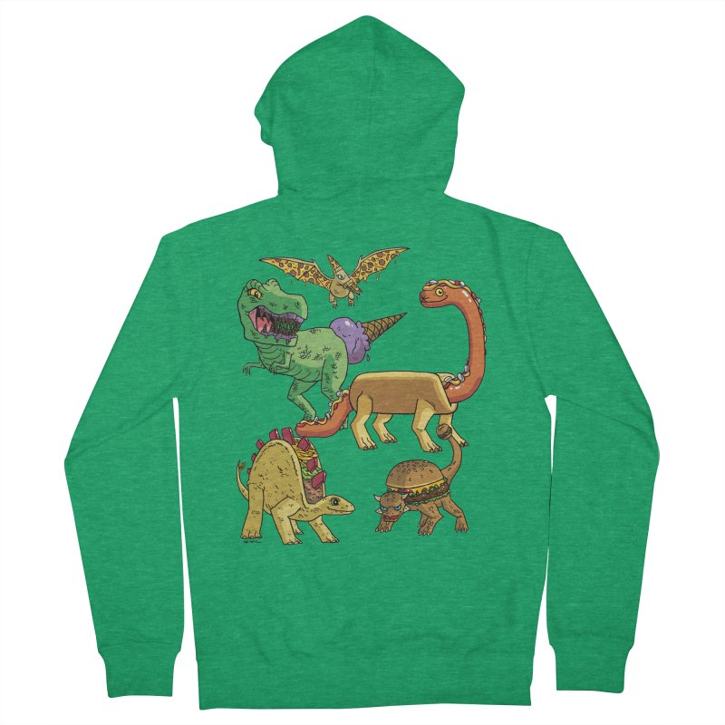 Jurassic Junk Food Men's Zip-Up Hoody by brianmcl's Artist Shop
