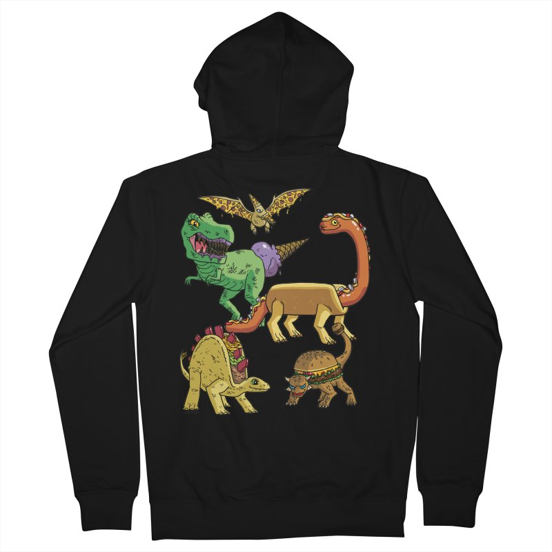 Jurassic Junk Food Men's French Terry Zip-Up Hoody by brianmcl's Artist Shop