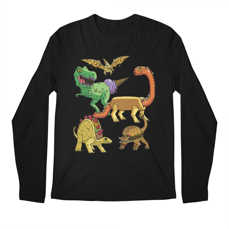 Jurassic Junk Food Men's Regular Longsleeve T-Shirt by brianmcl's Artist Shop