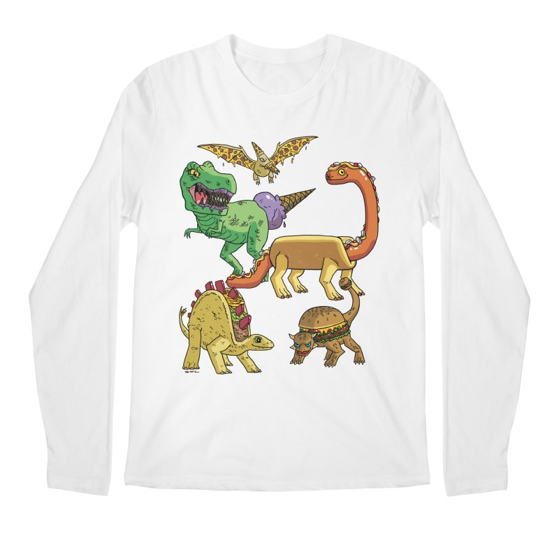 Jurassic Junk Food Men's Regular Longsleeve T-Shirt by brianmcl's Artist Shop