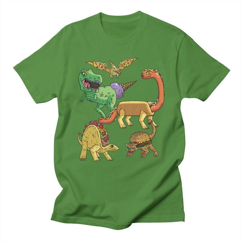 Jurassic Junk Food Women's Regular Unisex T-Shirt by brianmcl's Artist Shop
