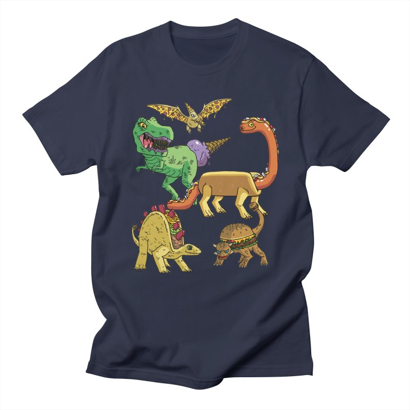 Jurassic Junk Food Men's Regular T-Shirt by brianmcl's Artist Shop