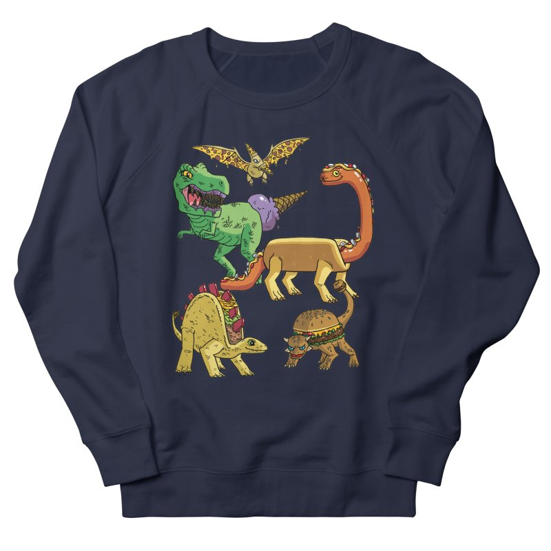 Jurassic Junk Food Women's French Terry Sweatshirt by brianmcl's Artist Shop
