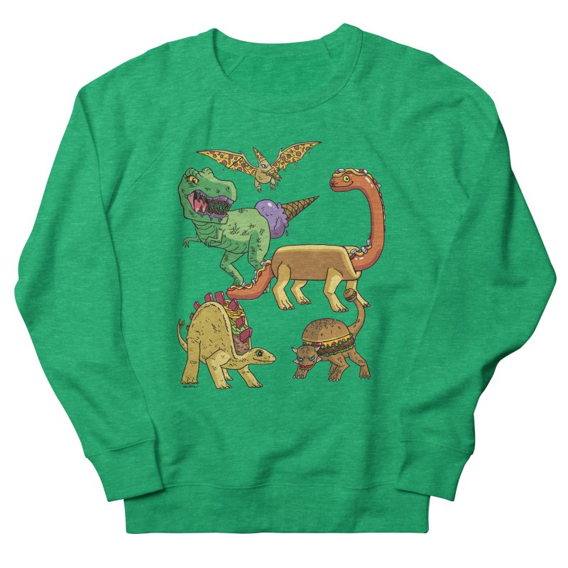 Jurassic Junk Food Men's French Terry Sweatshirt by brianmcl's Artist Shop