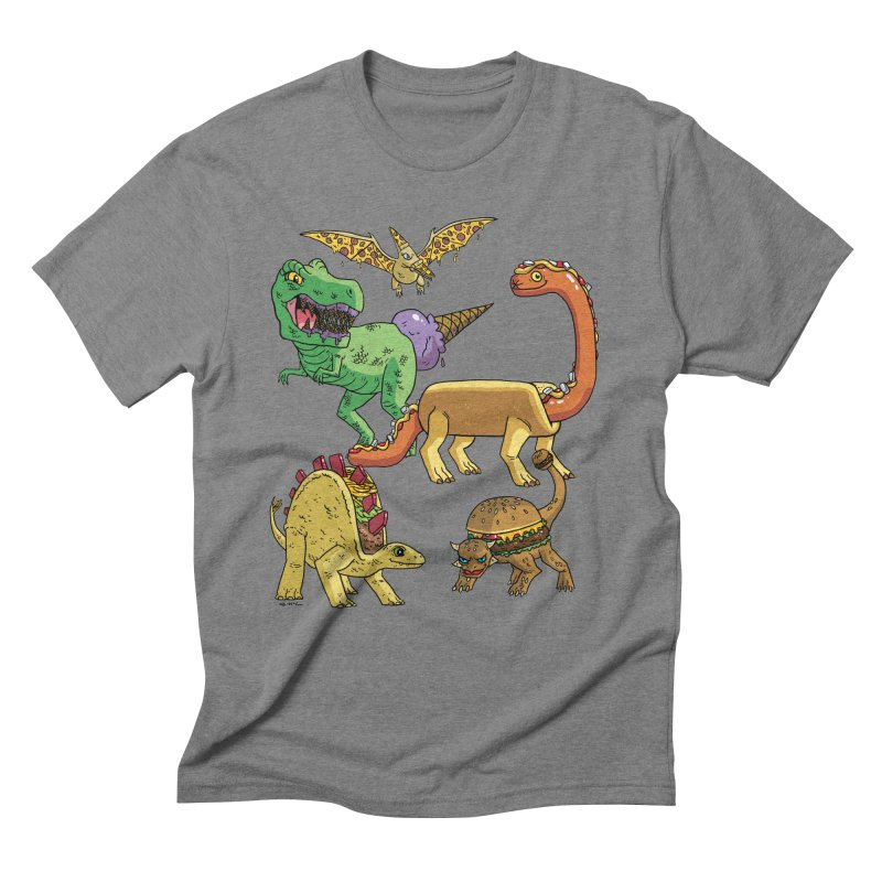 Jurassic Junk Food Men's Triblend T-Shirt by brianmcl's Artist Shop