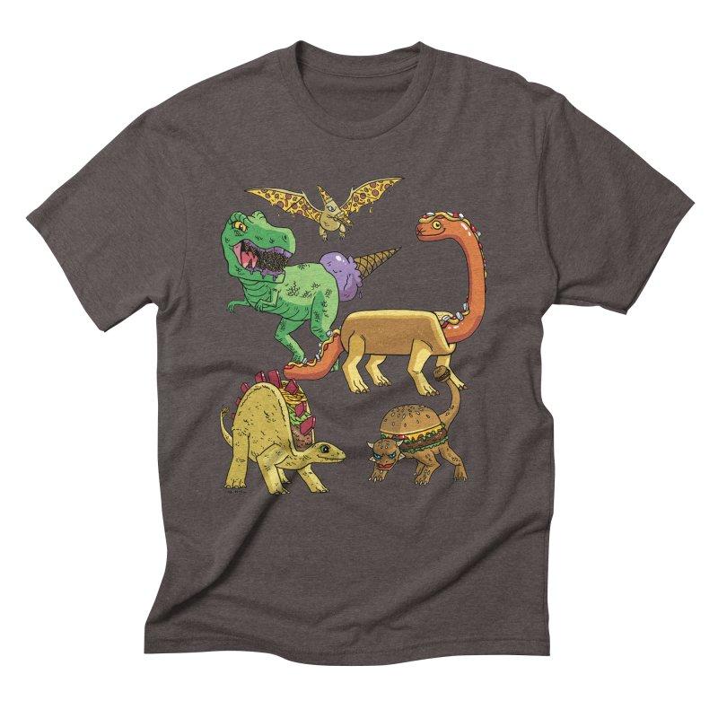 Jurassic Junk Food Men's Triblend T-Shirt by brianmcl's Artist Shop