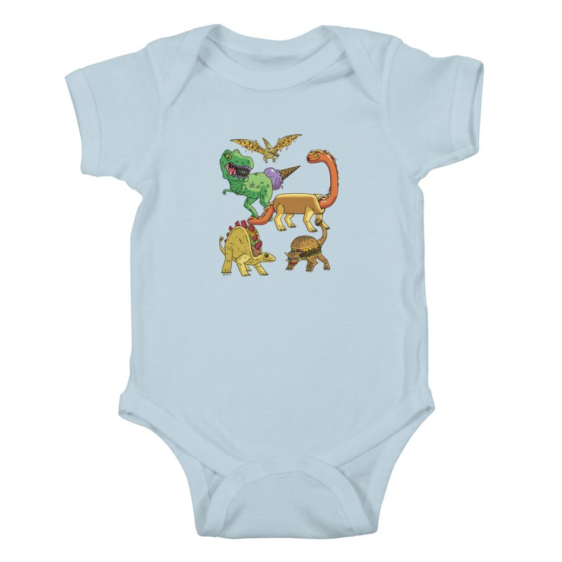 Jurassic Junk Food Kids Baby Bodysuit by brianmcl's Artist Shop