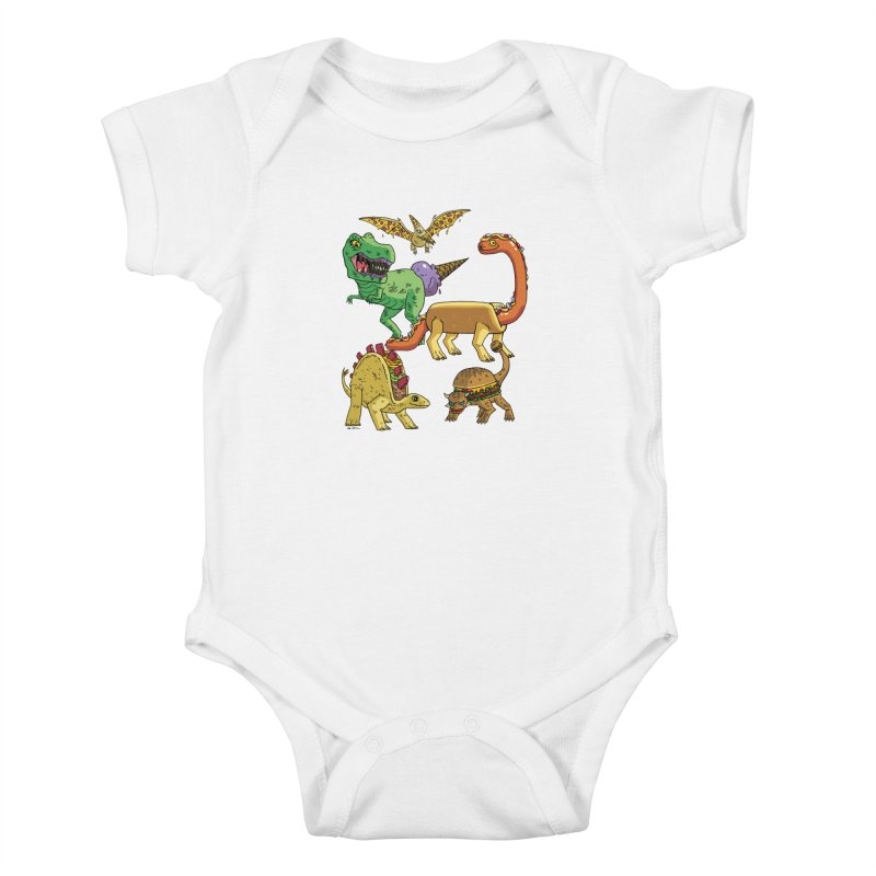 Jurassic Junk Food Kids Baby Bodysuit by brianmcl's Artist Shop