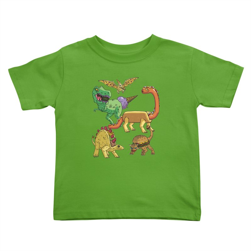 Jurassic Junk Food Kids Toddler T-Shirt by brianmcl's Artist Shop