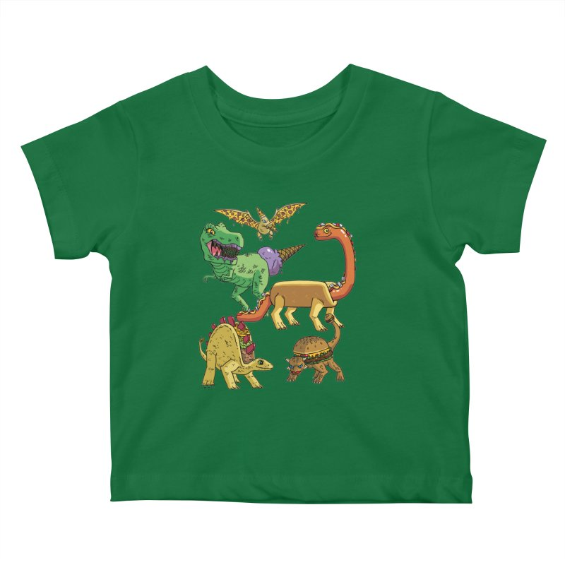 Jurassic Junk Food Kids Baby T-Shirt by brianmcl's Artist Shop