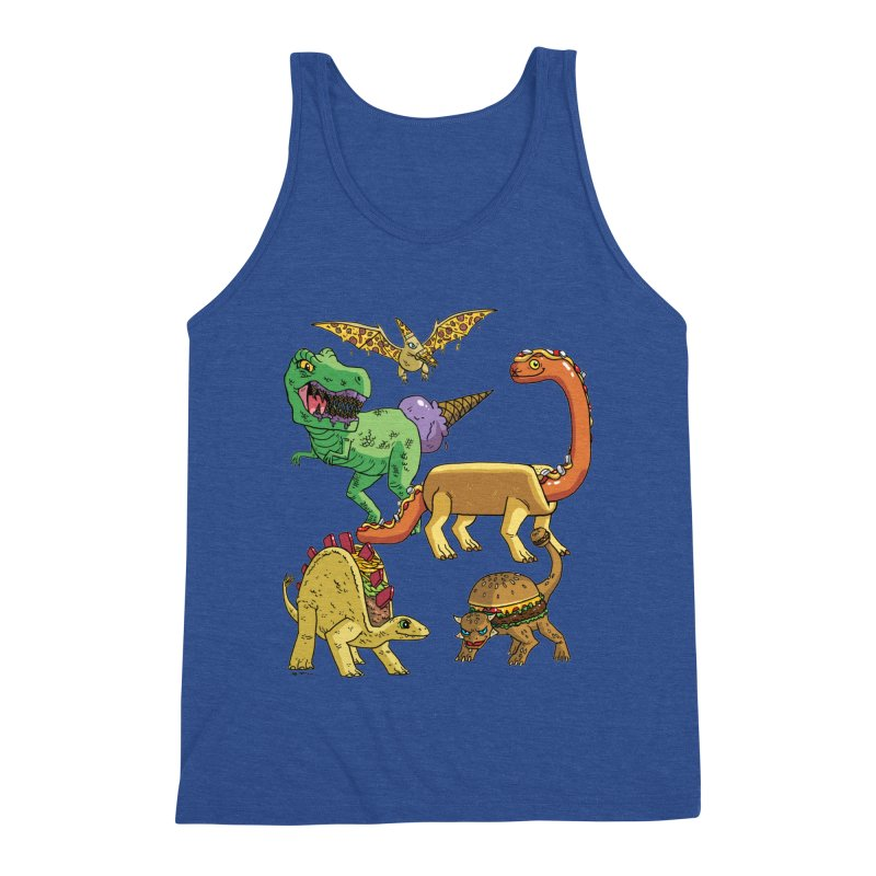 Jurassic Junk Food Men's Tank by brianmcl's Artist Shop