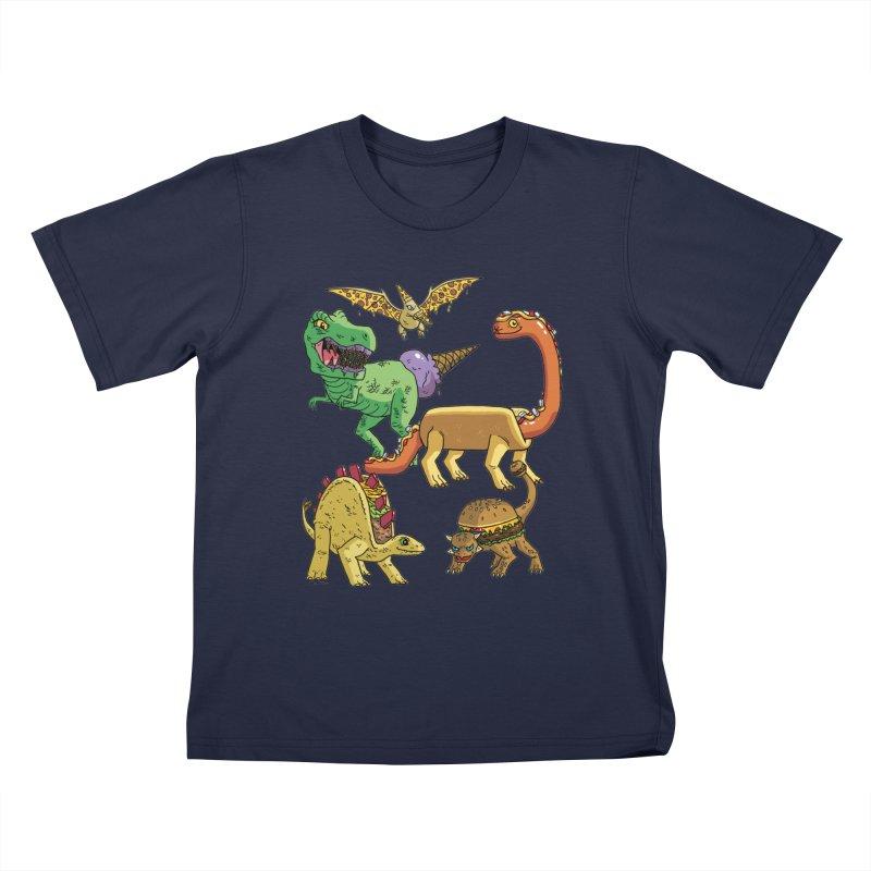 Jurassic Junk Food Kids T-Shirt by brianmcl's Artist Shop