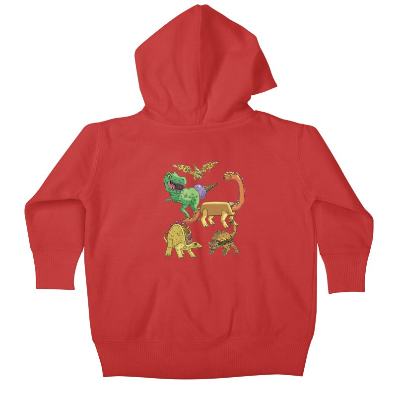 Jurassic Junk Food Kids Baby Zip-Up Hoody by brianmcl's Artist Shop
