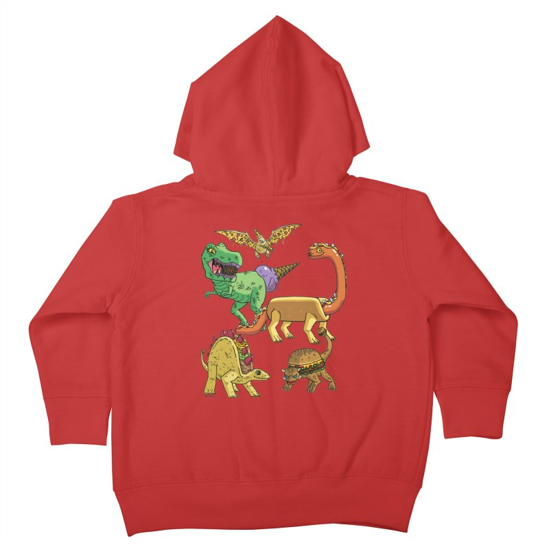 Jurassic Junk Food Kids Toddler Zip-Up Hoody by brianmcl's Artist Shop