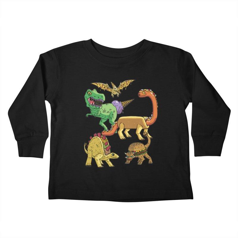 Jurassic Junk Food Kids Toddler Longsleeve T-Shirt by brianmcl's Artist Shop