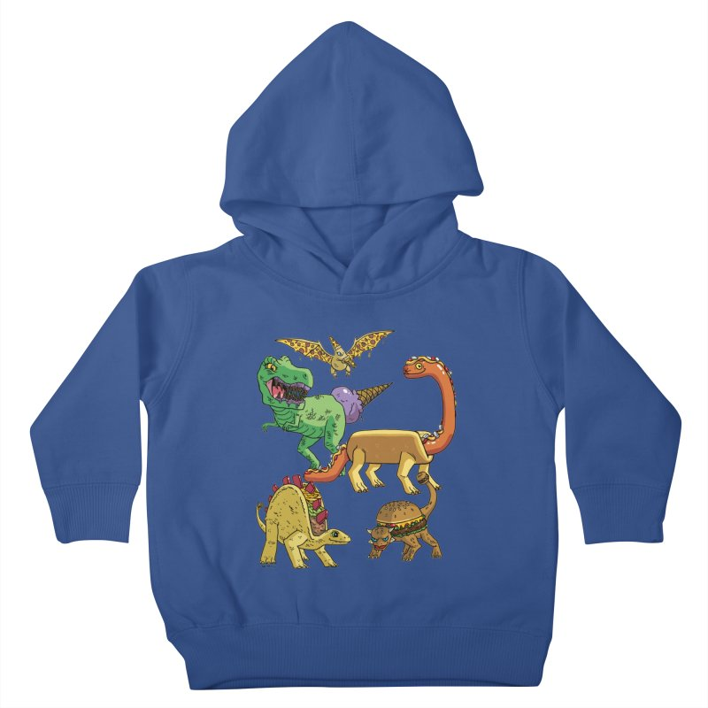 Jurassic Junk Food Kids Toddler Pullover Hoody by brianmcl's Artist Shop