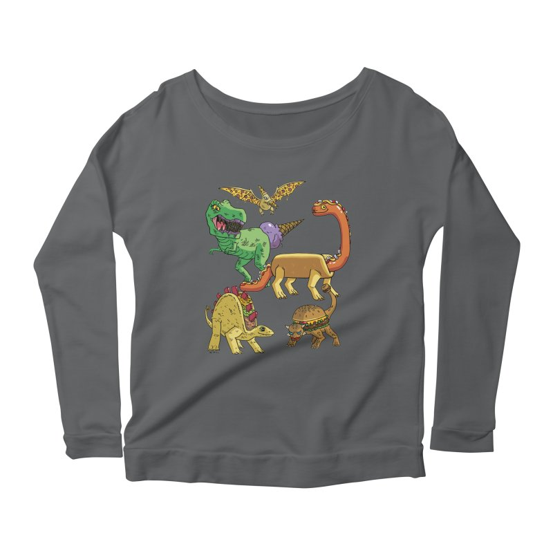 Jurassic Junk Food Women's Longsleeve T-Shirt by brianmcl's Artist Shop