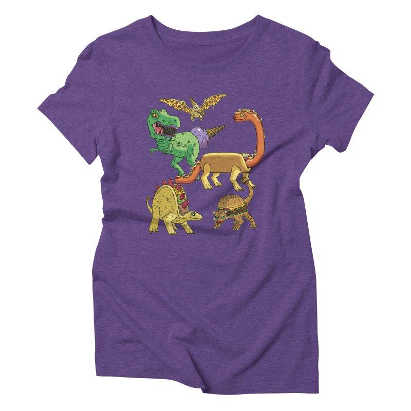 Jurassic Junk Food Women's Triblend T-Shirt by brianmcl's Artist Shop