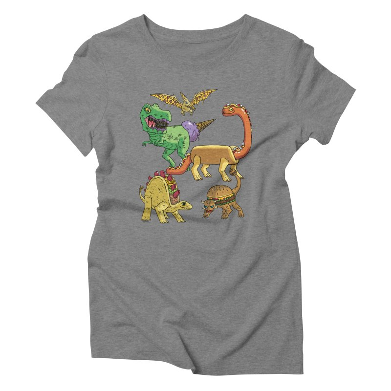 Jurassic Junk Food Women's Triblend T-Shirt by brianmcl's Artist Shop