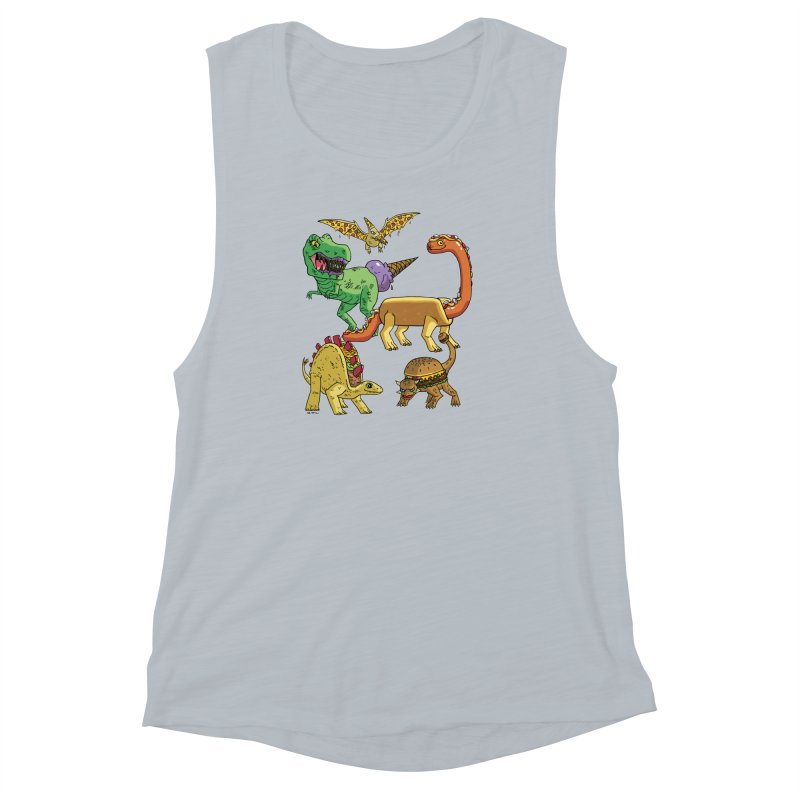 Jurassic Junk Food Women's Muscle Tank by brianmcl's Artist Shop