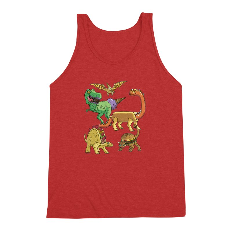 Jurassic Junk Food Men's Triblend Tank by brianmcl's Artist Shop