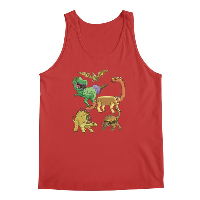 Jurassic Junk Food Men's Regular Tank by brianmcl's Artist Shop