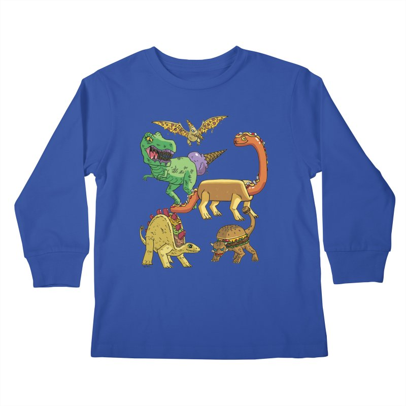 Jurassic Junk Food Kids Longsleeve T-Shirt by brianmcl's Artist Shop