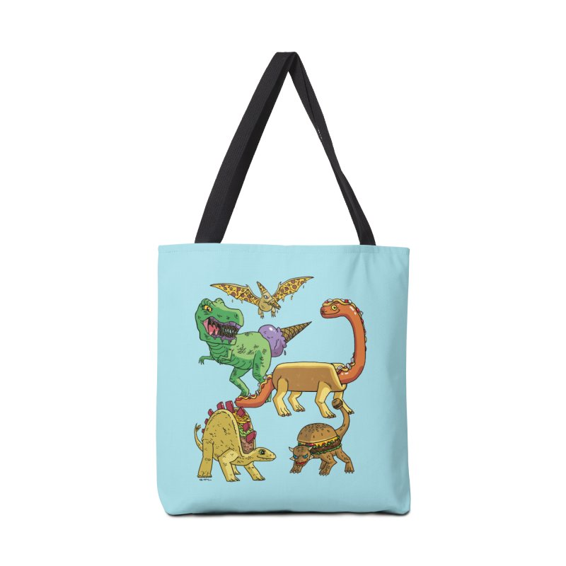 Jurassic Junk Food Accessories Tote Bag Bag by brianmcl's Artist Shop