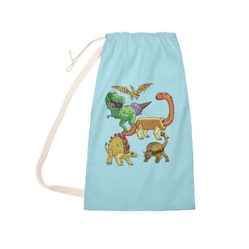 Jurassic Junk Food Accessories Laundry Bag Bag by brianmcl's Artist Shop